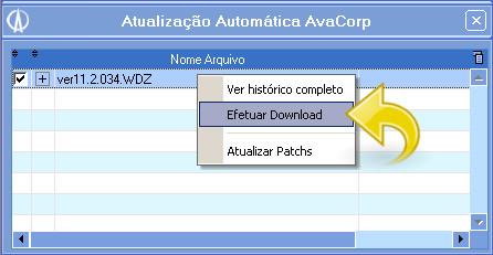 Efetuando download do pacote.