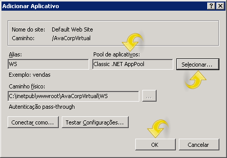 Configurando aplicativo.