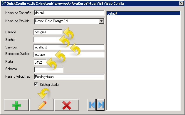 Configurando Conexão.